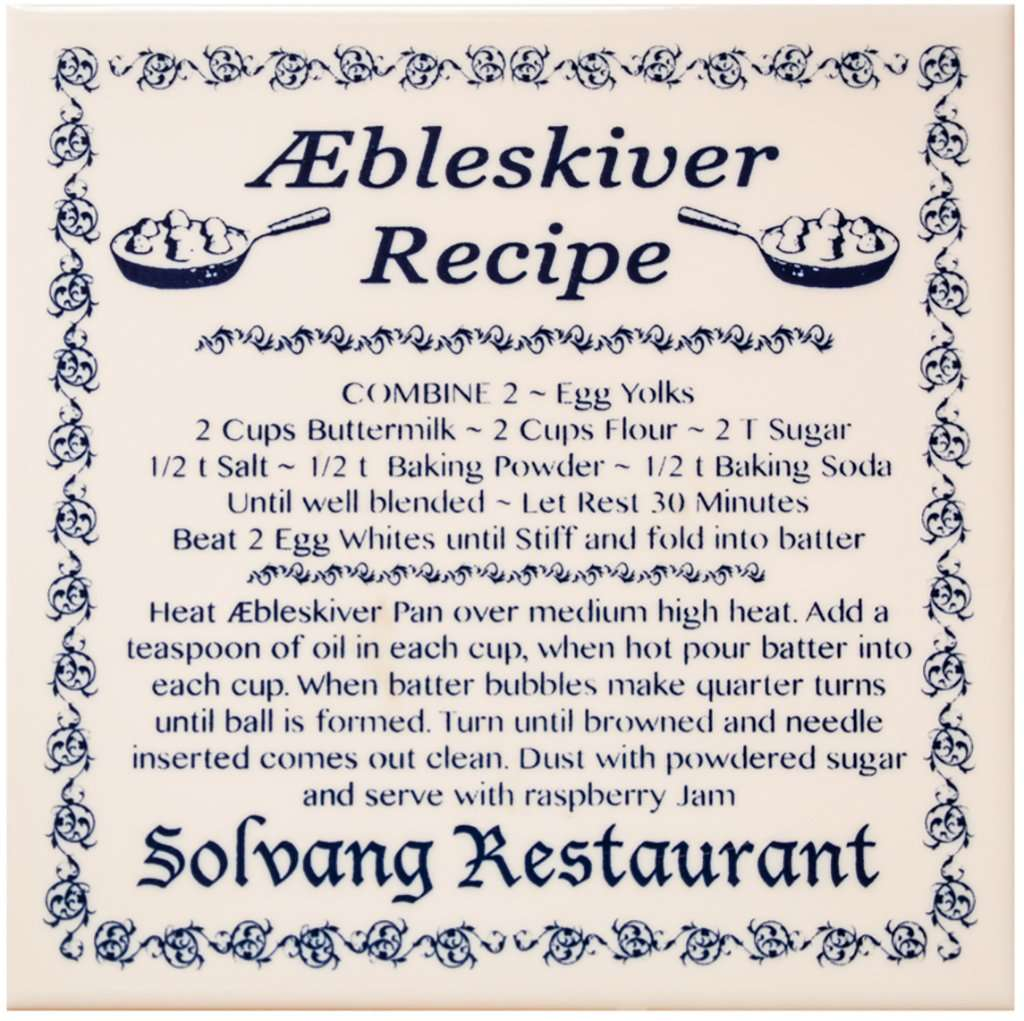 Solvang Restaurant Menu